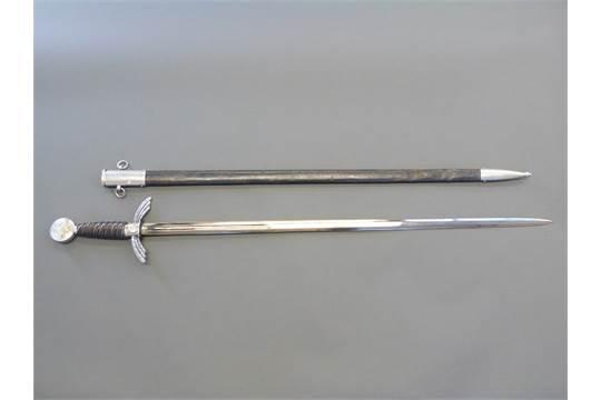 A replica Nazi German Luftwaffe officer's sword marked