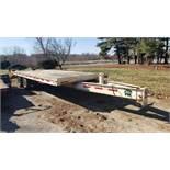 CronkiteTrailer Model 6000A, 23 ft x 8 ft Trailer, 18 ft Bed w/ 5 ft Beavertail, 5 ft Ramps, 30 ft