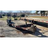 International Model BC14 Tandem Axle Trailer, 14′ x 76″ Wide, 5′ Ramps, 18′ OAL, 12,000 GVW
