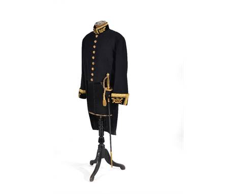 The dress uniform tail-coat and overalls for a Vice Marshal of Her Majesty's Diplomatic Corps, 20th century, to include a cou