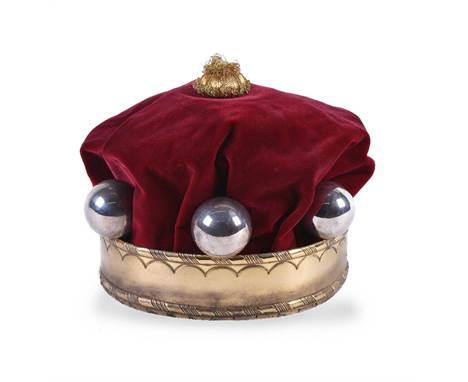 The coronation coronet of a baron, a silver parcel gilt baron's coronet by Sebastian Garrard, London 1901, matted and chased