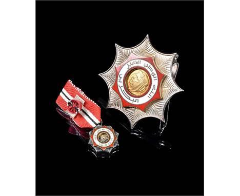 Bahrain, Order of Bahrain, type 1 with portrait of Sheikh Isa and inscription Allah - Al Watan - Al Emir - Al Bahrain, Third