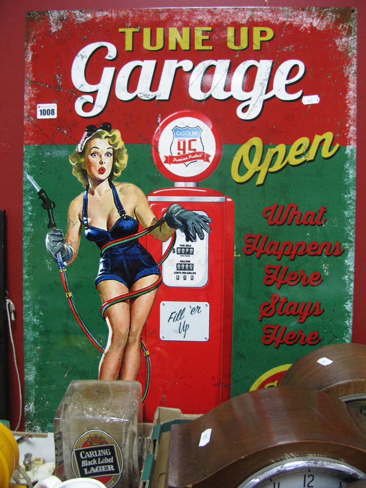 Lot 1008 - Tune up Garage Metal Wall Sign, 70 x 50cm.
