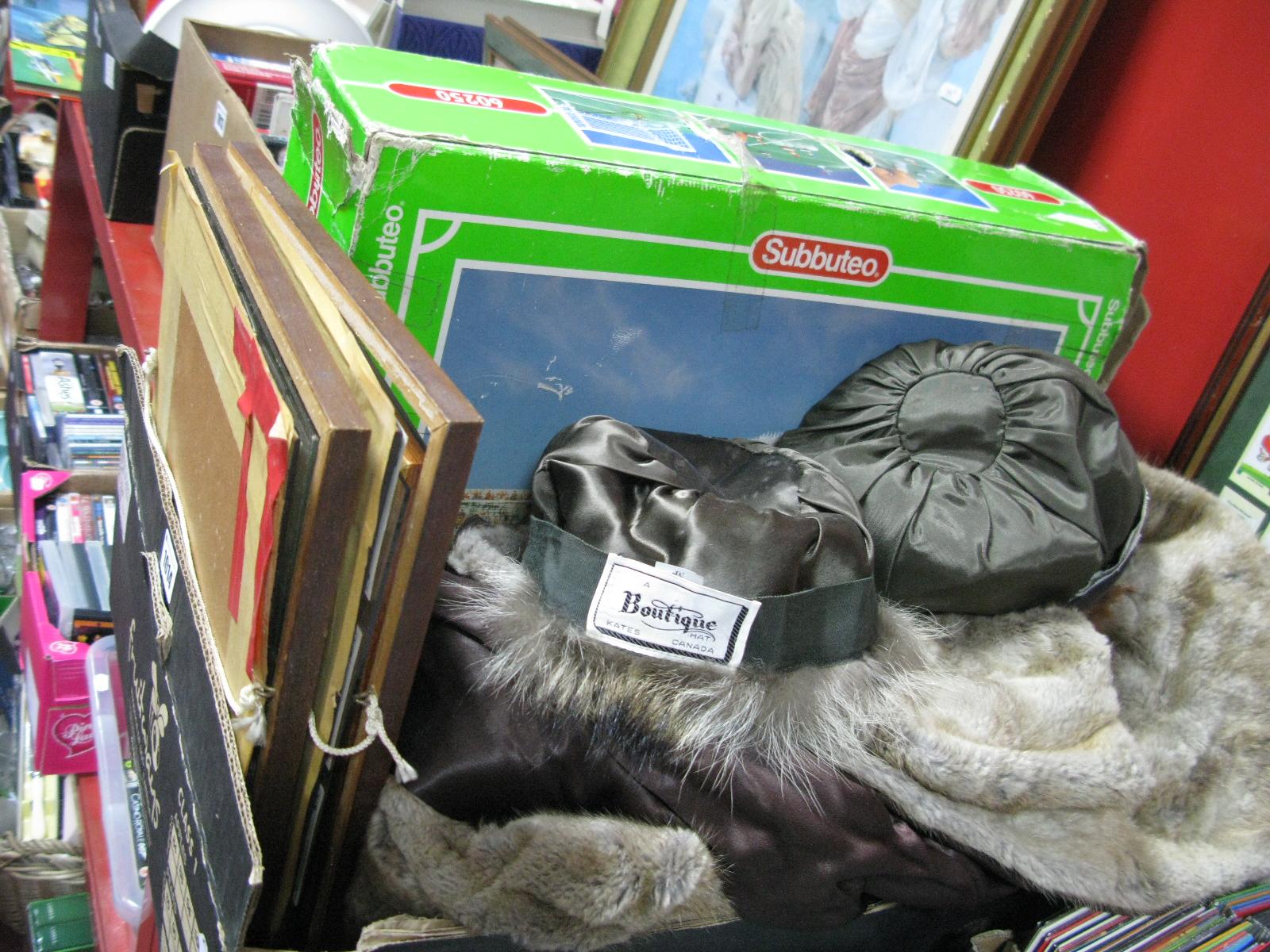 Lot 1014 - Kate's Boutique and Other Canadian Fur Hats, plus coat, Subbuteo boxed set, cigarette cards, etc:-