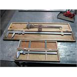 """LOT - VERNIER CALIPERS, 40"""" AND 18"""", PLUS 24"""" HEIGHT GAGE"""