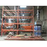 """LOT - (6) SECTIONS OF PALLET RACKING, 94"""" BEAMS, 16' UPRIGHTS, CONTENTS NOT INCLUDED"""