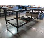 """8' X 4' STEEL TABLE, TOP IS 5/16"""" THICK"""