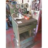 Storage unit with quantity of grinding wheels