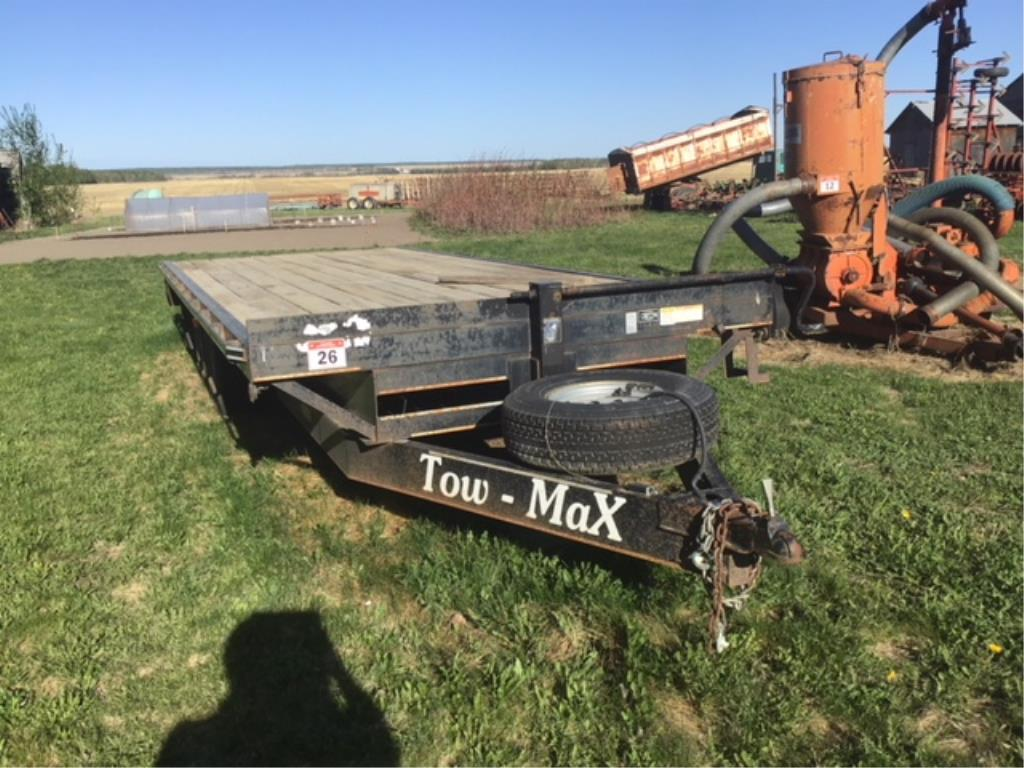 Lot 26 - 2012 Tow Max 20ft T/A Deck Over Equipment Trailer VIN 1C9FS202XCM364001 8ft wide Deck