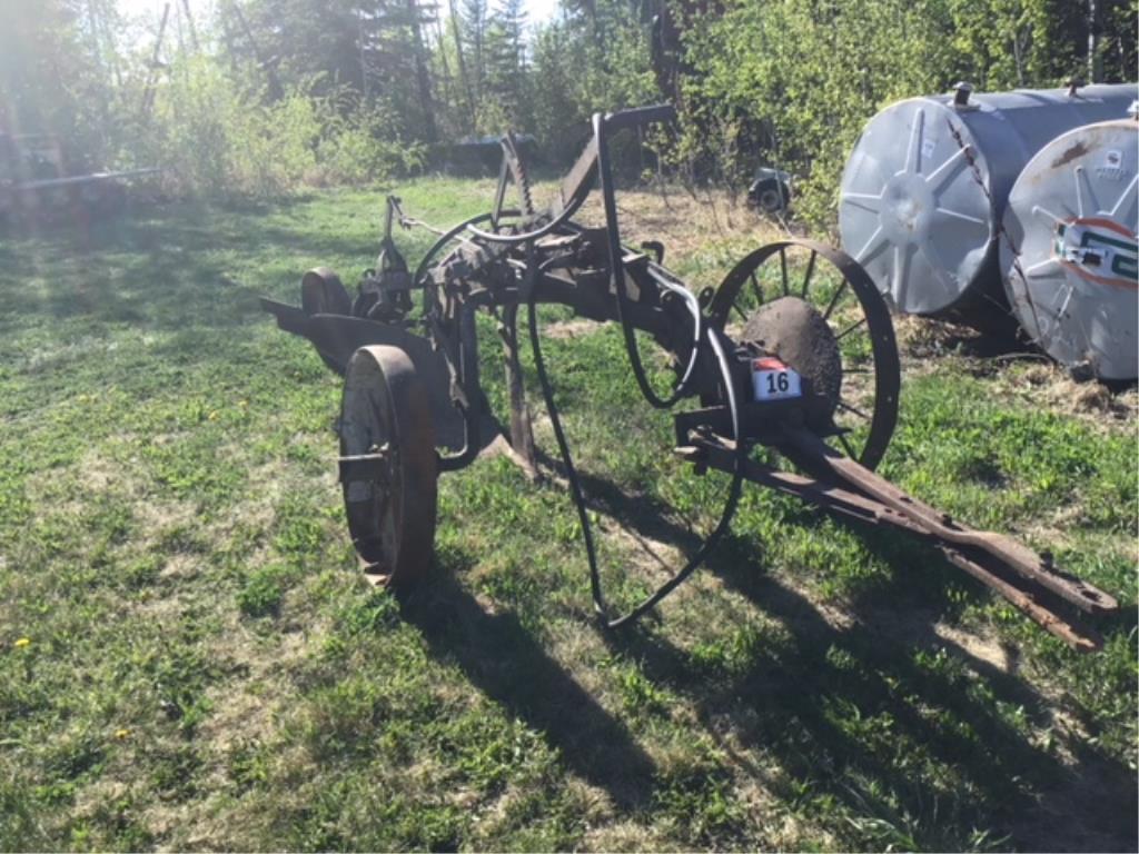 Lot 16 - Antique Breaking Plow