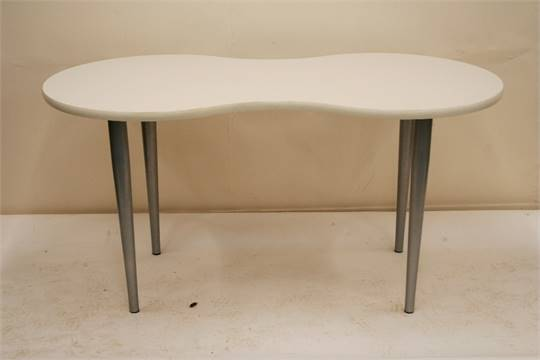 An Ikea Kidney Shaped Table 150cm