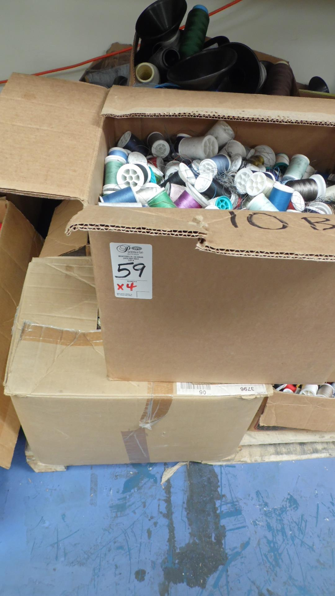 BOXES OF SEWING THREADS