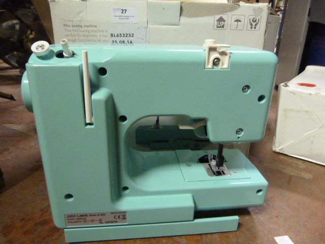 Lot 27 - Mini Sewing Machine (Green)
