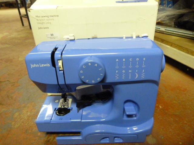 Lot 33 - Mini Sewing Machine (Blue)