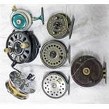 "7 REELS TO INCLUDE PARAMOUNT 4 1/2"" REEL, ALLCOCK AERIALITE 3 3/4"" SUPER-LEX REEL,"