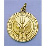 SPINK & SON MEDALLION MARKED 18CT AND COMMEMORATING MAY 31ST 1916 THE GERMAN FLEET ATTACKED OFF THE