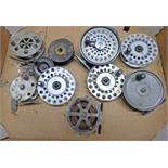 "SELECTION OF REELS TO INCLUDE A 3 1/2"" GLADDING INTREPID REEL, YOUNGS CONCLEX,"