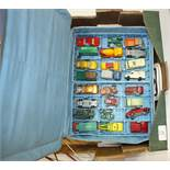 A collection of Matchbox diecast models, glass marbles and other items.