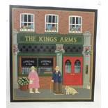 After Peter Heard, 'The King's Arms', a limited-edition coloured print no.276/300, signed and titled