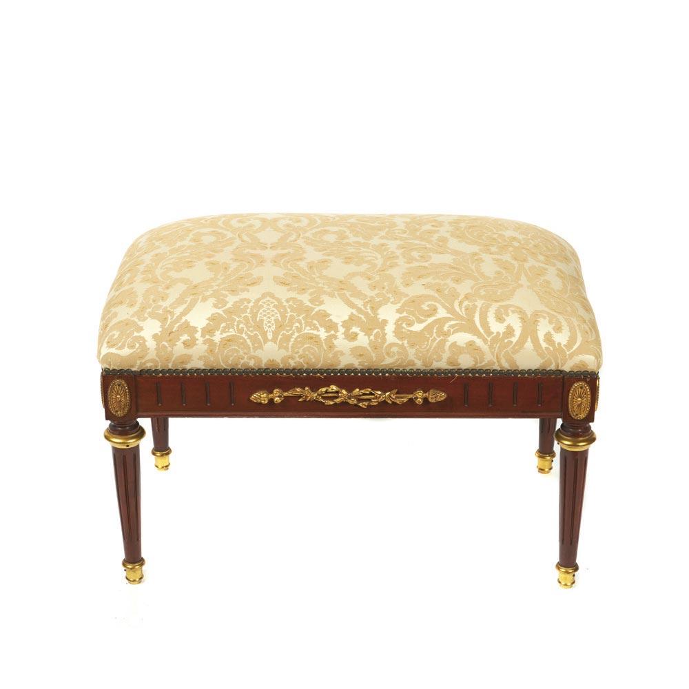 Wood Empire Style Stool Banqueta Estilo Imperio En Madera Con  # Muebles Directo Cee
