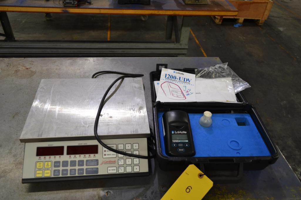 Lot 6 - LOT: Cardinal Counting Scale, LaMotte Colorimeter