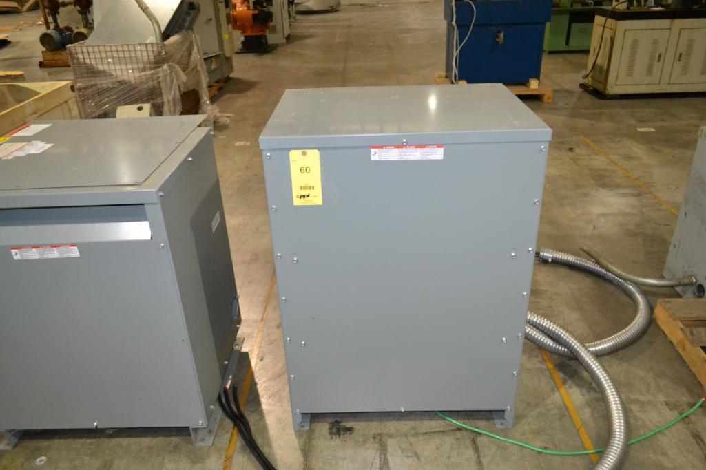 Lot 60 - Square D 75 KVA, 3-Phase, 480/208 Transformer