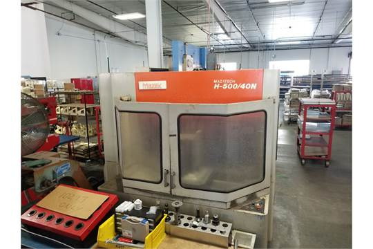 1992 MAZAK H500 40N MAZATECH HORIZONTAL MACHINING CENTER, PALLET