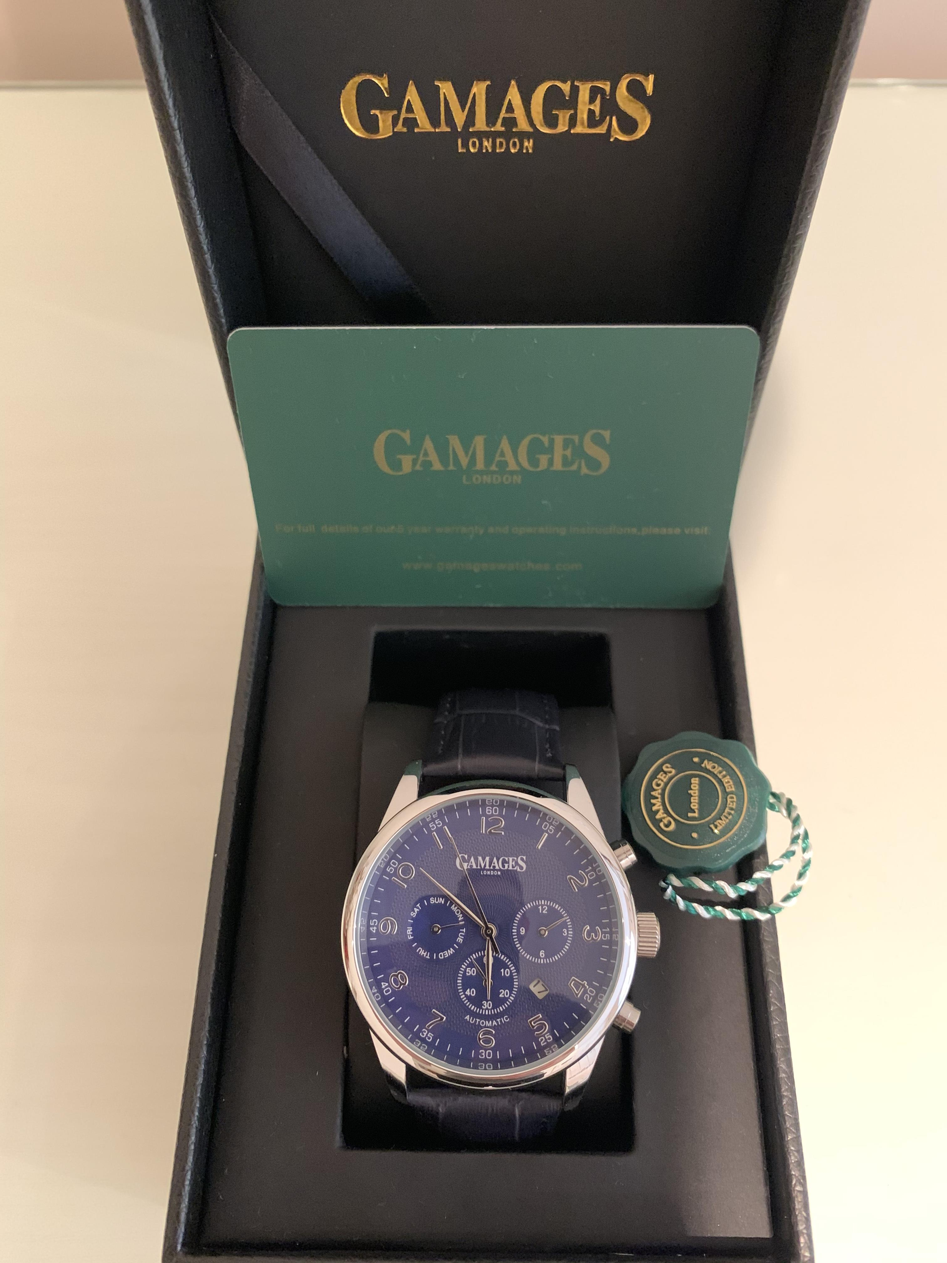 Limited Edition Hand Assembled Gamages Enigmatic Automatic Steel – 5 Year Warranty & Free Delivery