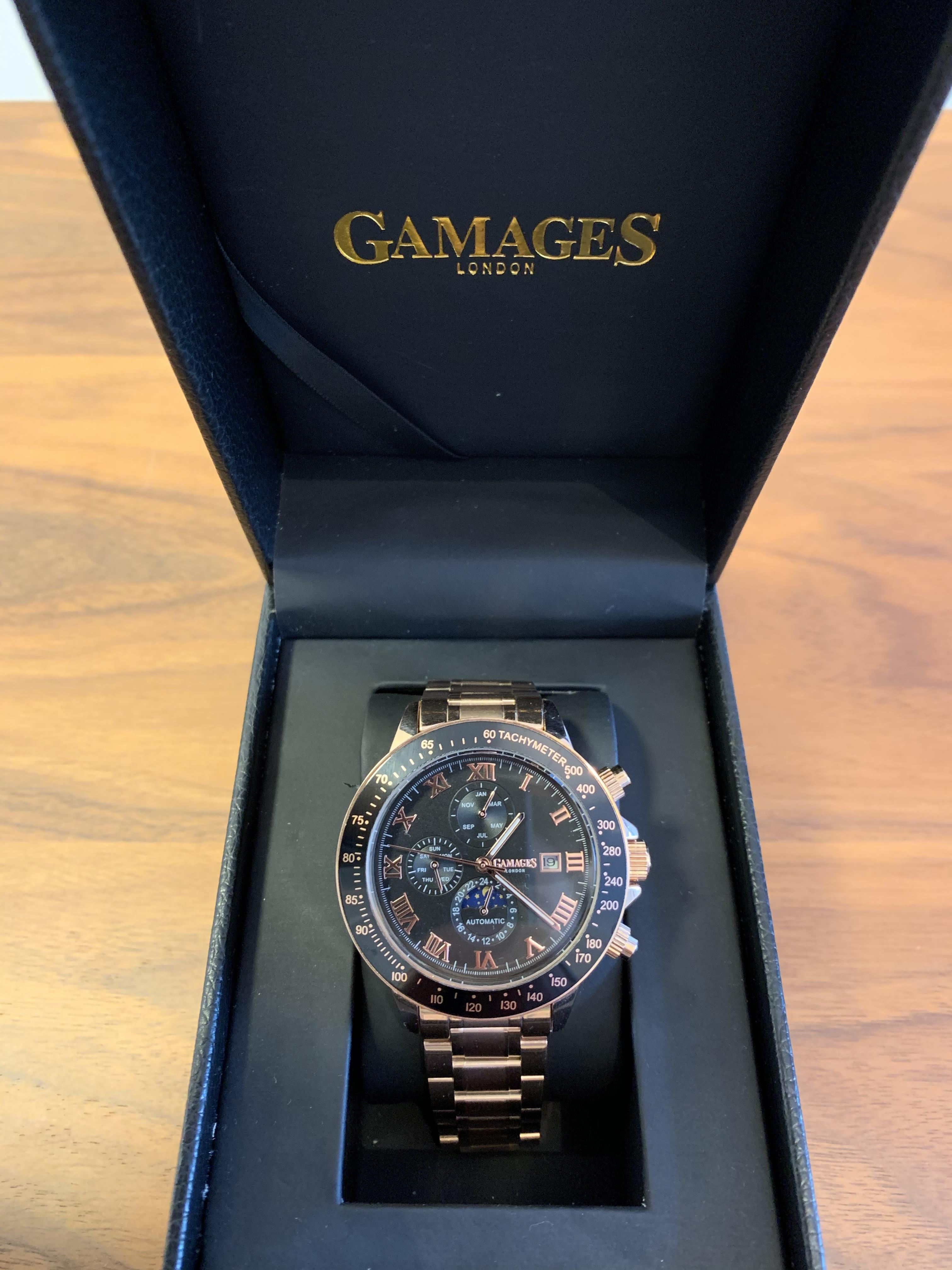 Ltd Edition Hand Assembled Gamages Race Calendar Automatic Rose – 5 Year Warranty & Free Delivery - Image 3 of 5