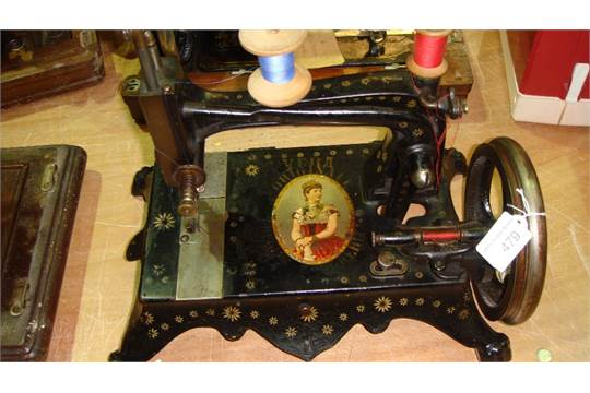Antique Table Top Sewing Machine By Haid Amp Nau Of Germany Vera Awesome Used Regina Sewing Machines