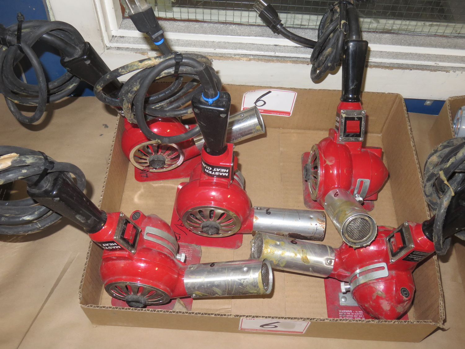 Lot 6 - LOT - MASTER HG 501A ELECTRIC HEAT GUNS