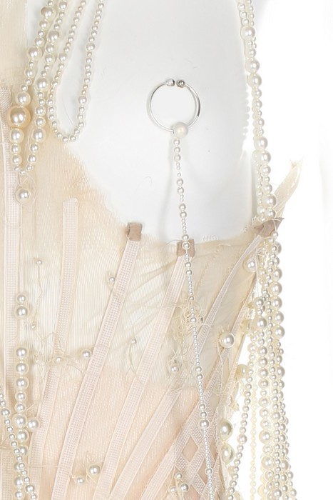 Lot 352 - Björk's Alexander McQueen pearl beaded 'bridal' gown, made for the 'Pagan Poetry' video, 2001,