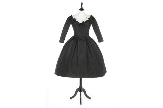 the latest f28d3 76829 A Christian Dior couture black faille cocktail dress ...