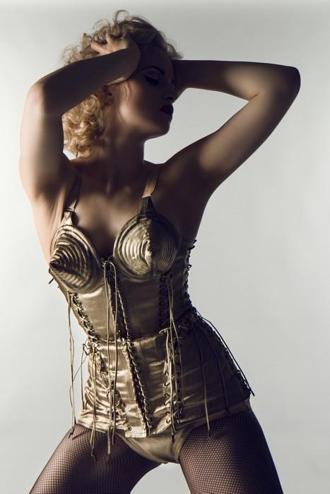 Lot 258 - A fine Jean Paul Gaultier gold lamé stage ensemble designed for Madonna's 'Blond Ambition' tour,