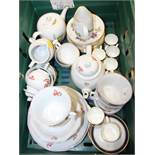 "A selection of Wedgwood ""Chantecler"" pattern tablewares, a selection of Royal Worcester ""Evesham"""