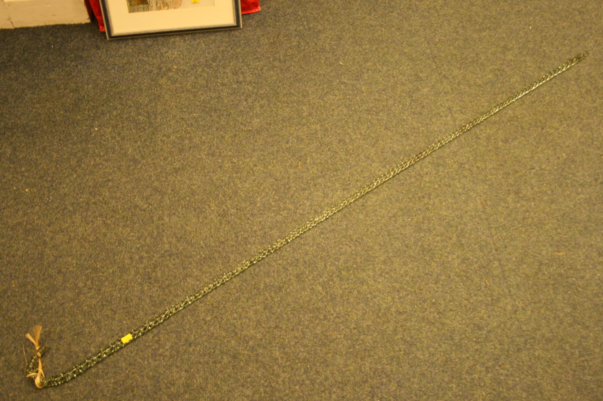 Lot 37 - Long green glass cane