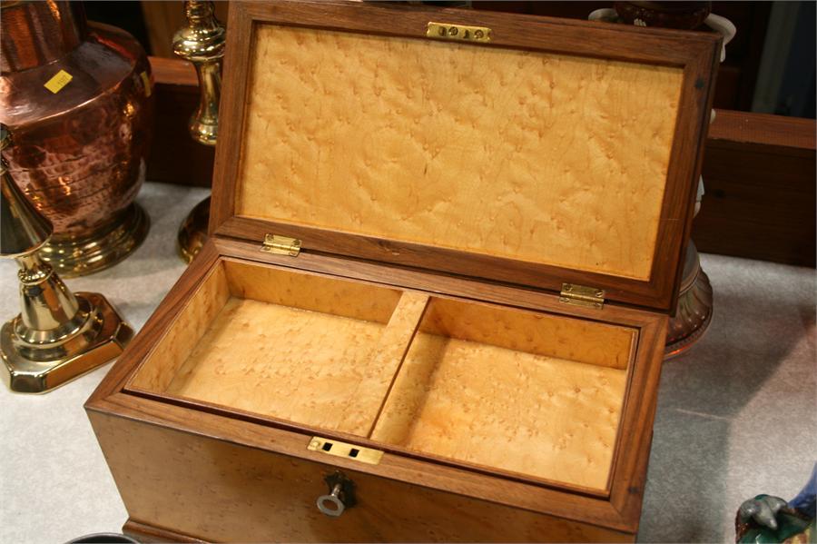 Lot 14 - Burr maple work box
