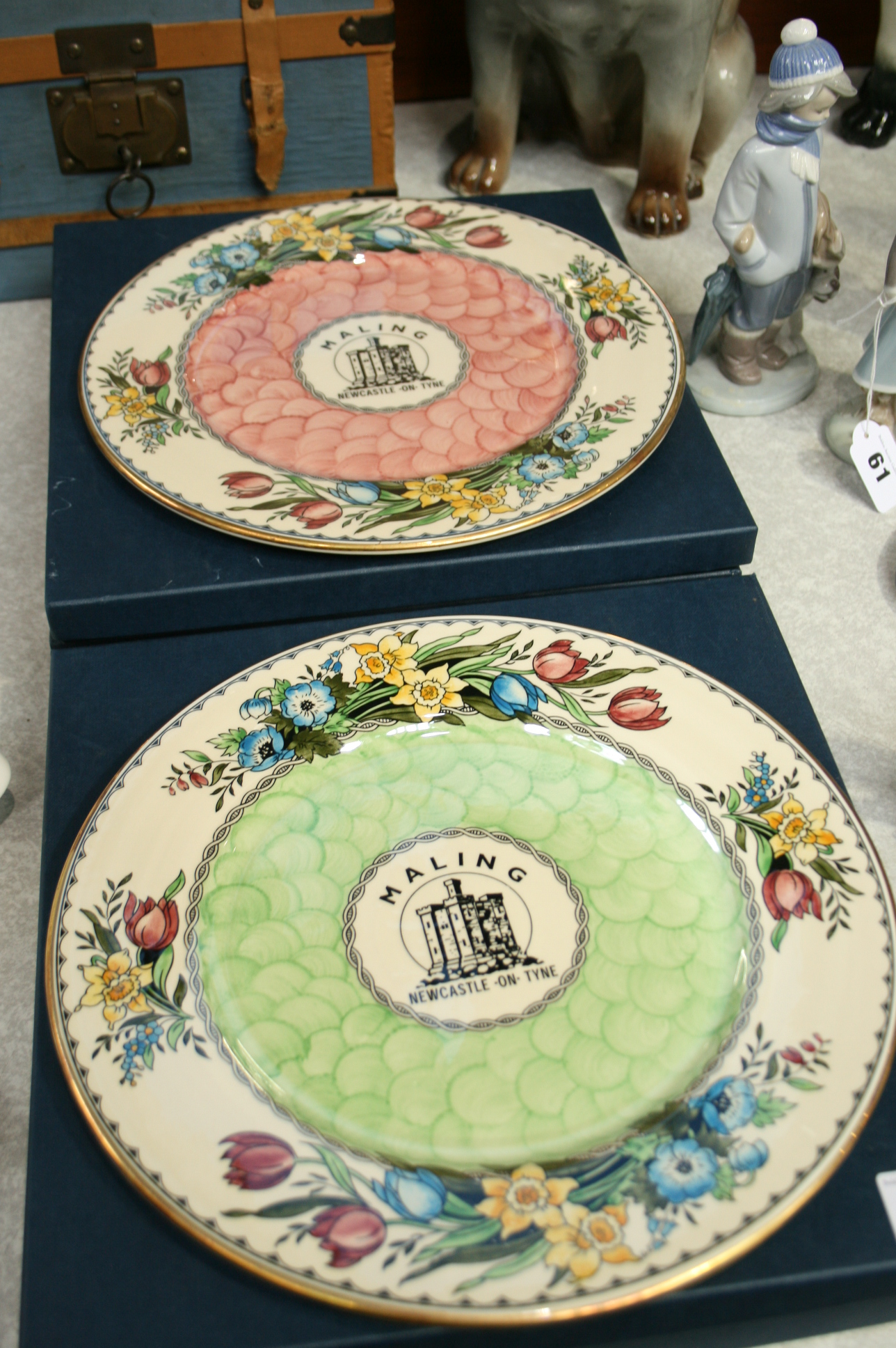 Lot 59 - Four Maling plates