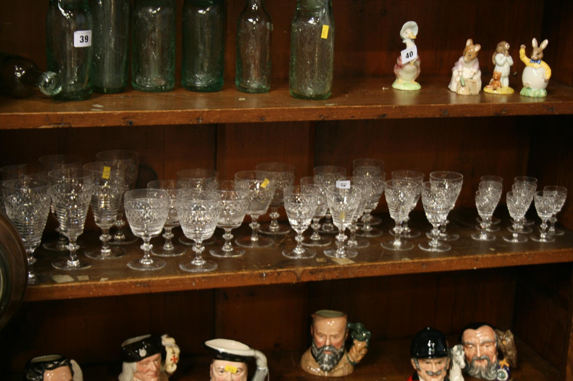 Lot 41 - A Suite of 33 Stuart Crystal glasses