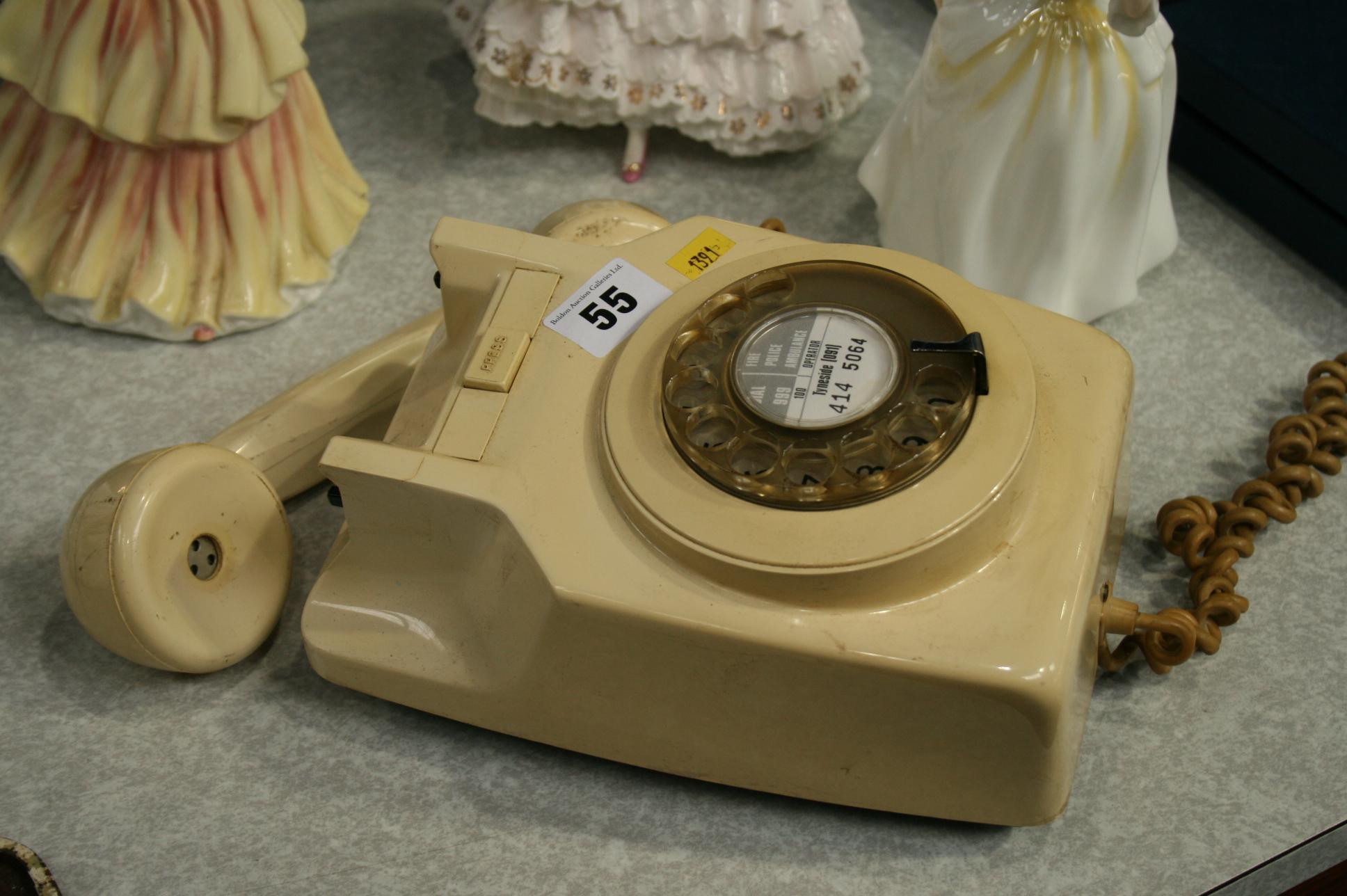 Lot 55 - Wall mounted telephone