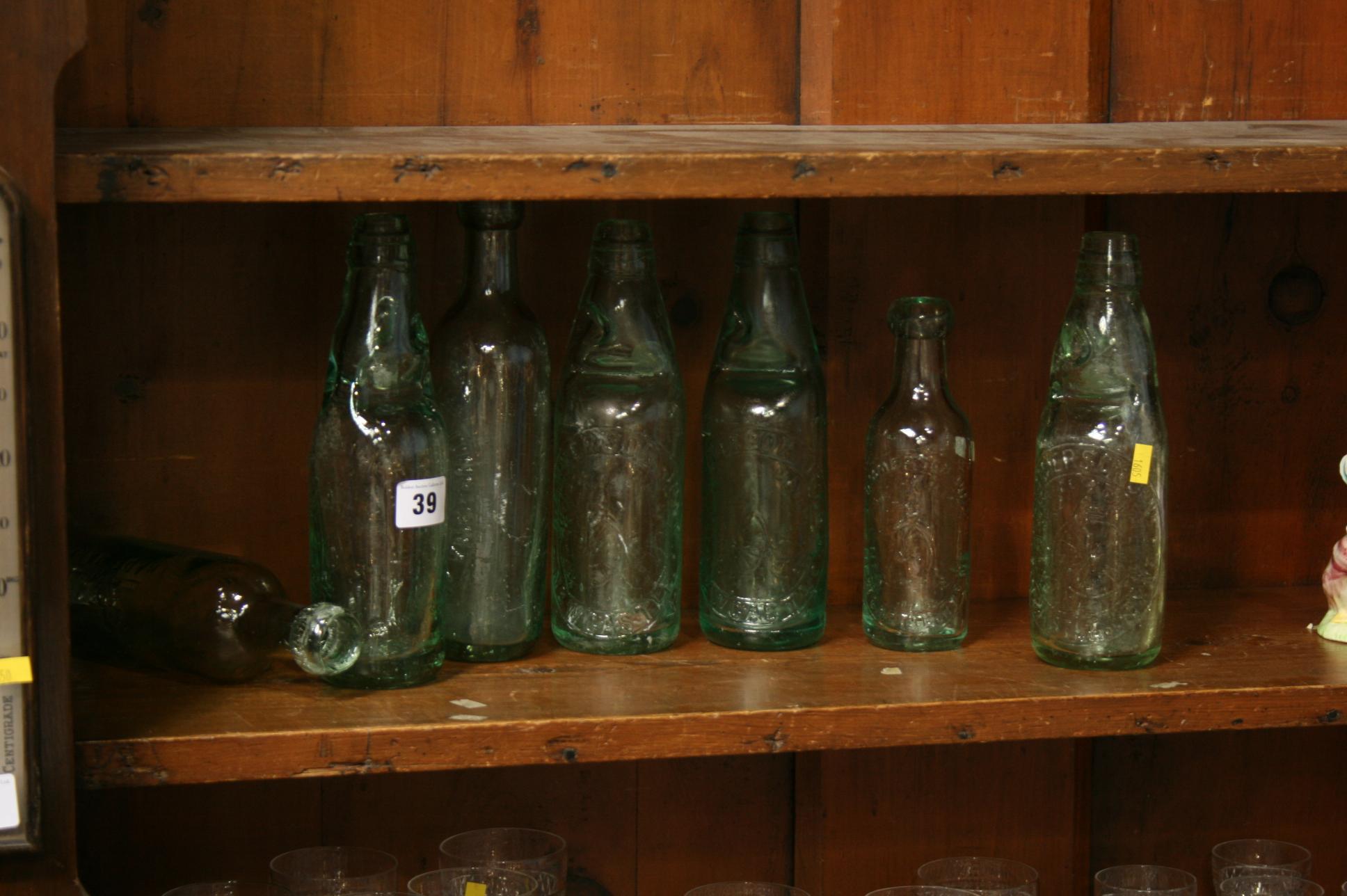 Lot 39 - Seven old bottles