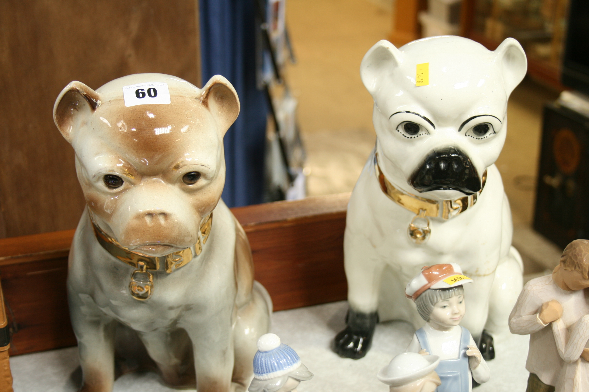 Lot 60 - Two Victorian Pug dogs
