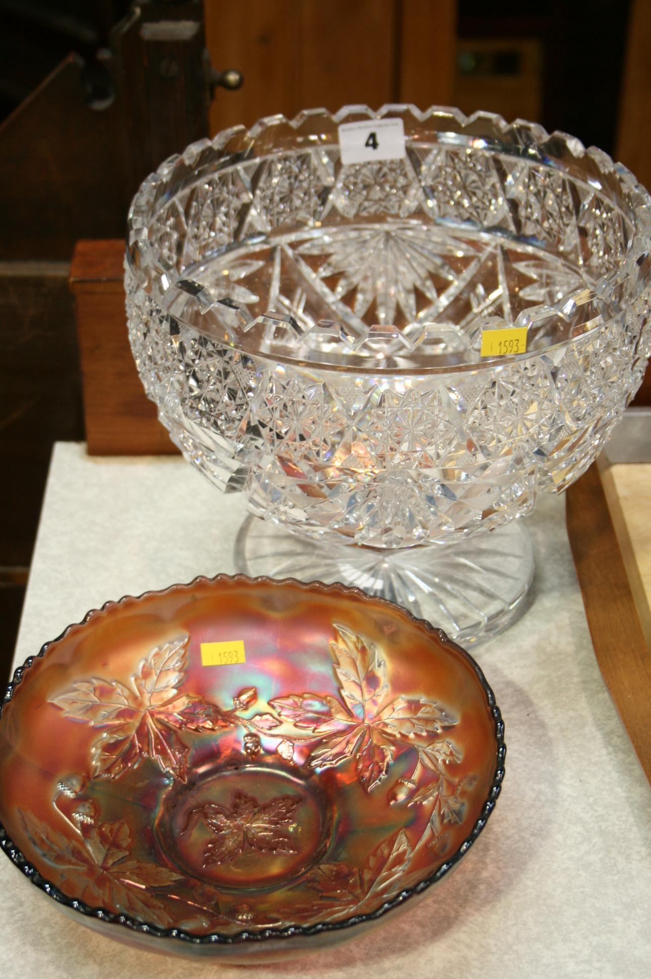 Lot 4 - Cut glass bowl etc.