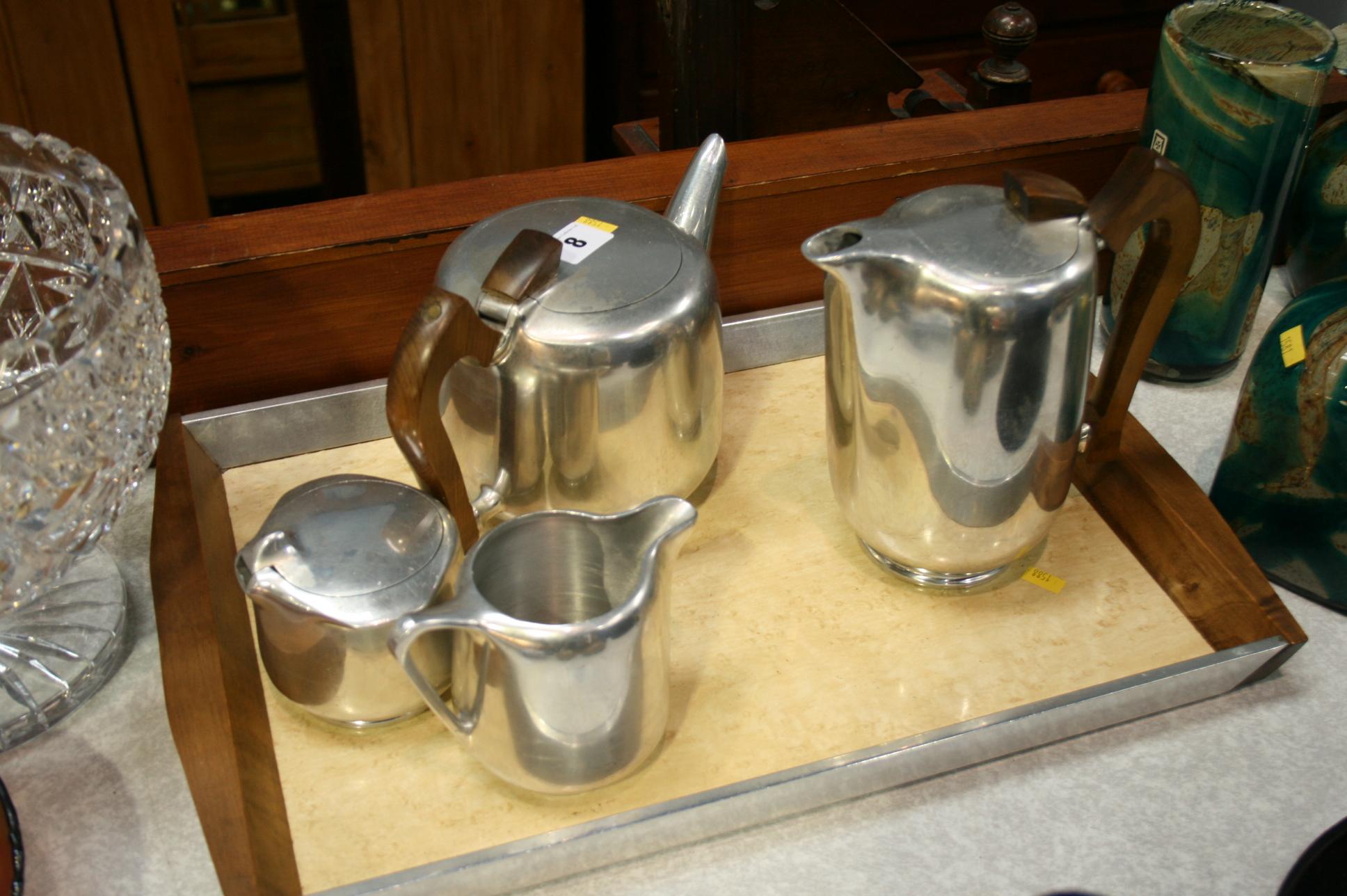 Lot 8 - Picquot Ware tea set