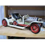 A Mamod #SA1 Live Steam Roadster, ten spoke wheel version with boiler sight glass. The model has