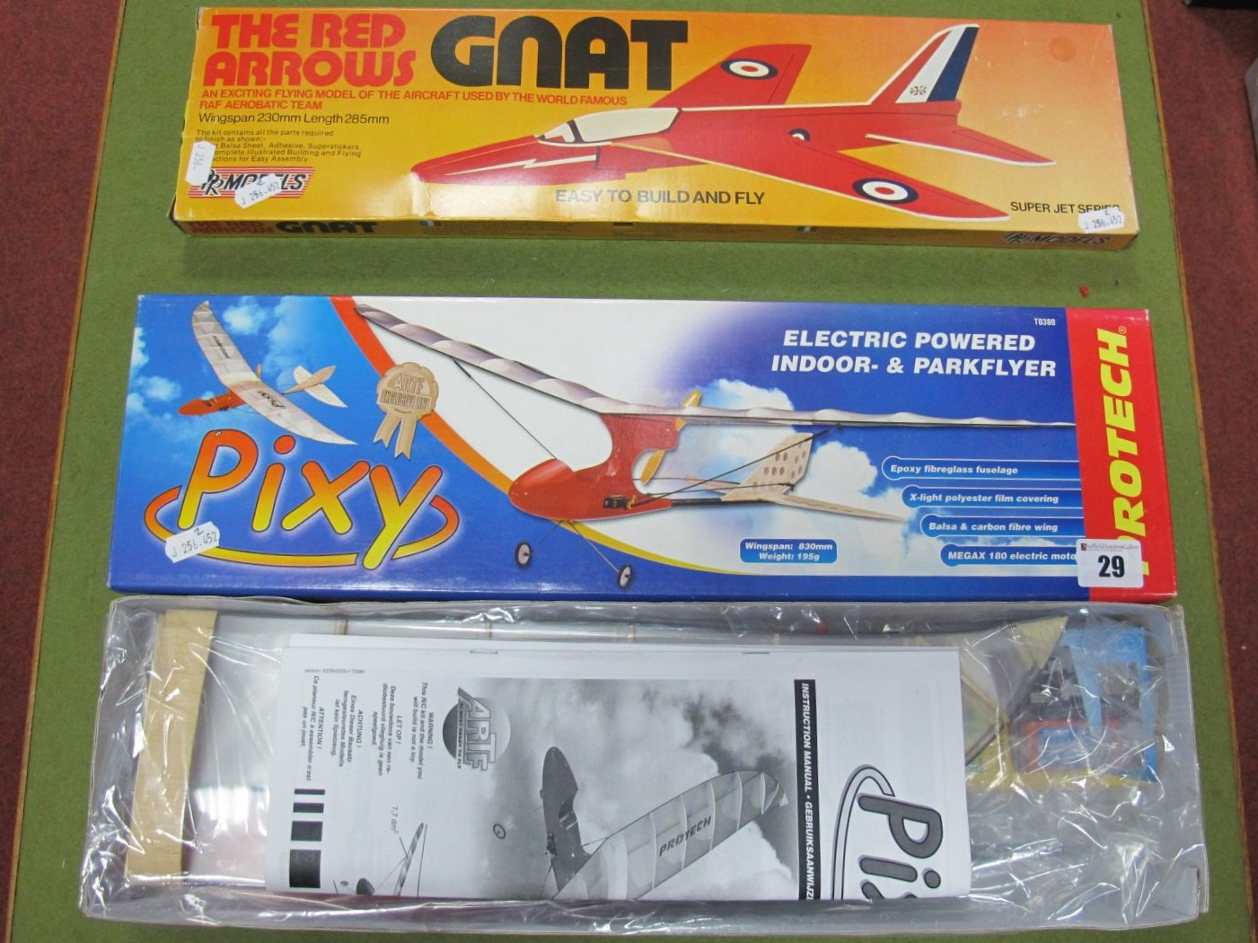Lot 29 - A Boxed Protech #T0380 'Pixy' Electric Powered Indoor and Park Flyer Model Aircraft, comes