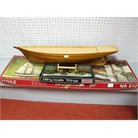 A Billings Boat Models Kit #572 L'Etoile, the kit has been started with the hull built to a good