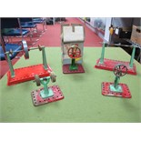 Five Mamod Live Steam Plant Accessories, including power presses and buffing wheels. All playworn.