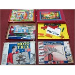 Three Boxed Mid XX Century Construction Sets, all along the lines of Meccano and unchecked for