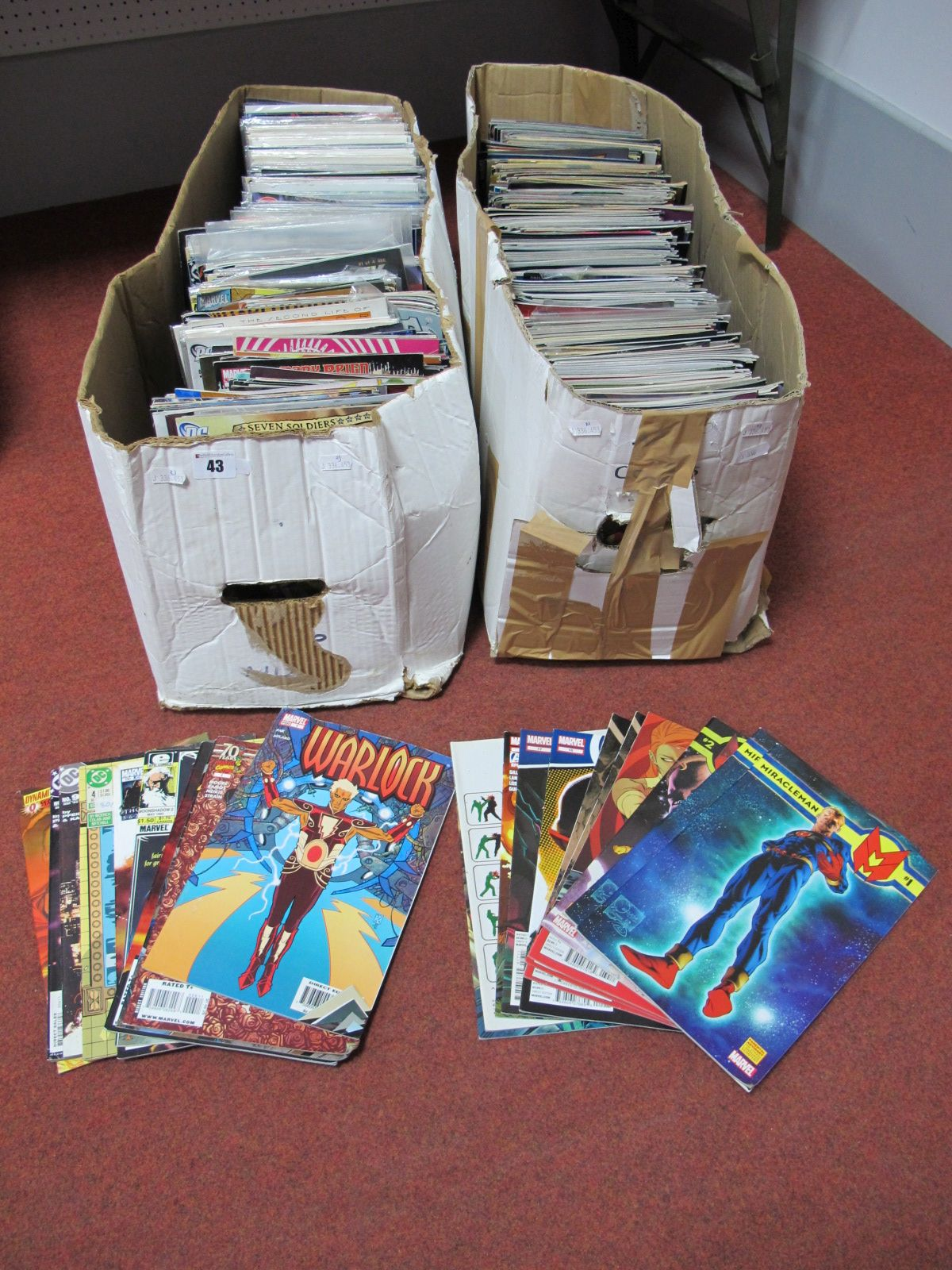 Lot 43 - In Excess of Six Hundred Comics, by DC, Marvel, Tangent, Wildstorm including Avengers Arena.